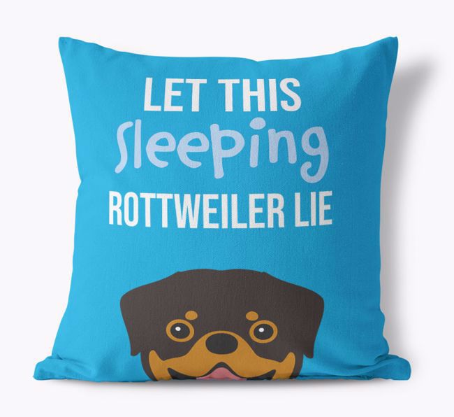 'Let This {breedCommonName} Sleep' - Personalised Canvas Cushion