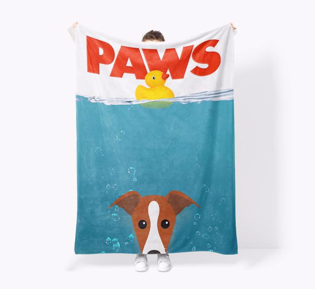 'Paws' - Personalised Snuggle Blanket with {breedFullName} Icon