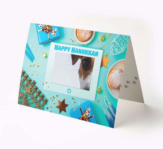 'Happy Hanukkah' - Photo Upload {breedFullName} Card
