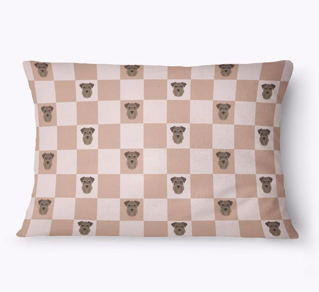 'Checkered Pattern' - Personalised {breedFullName} Dog Bed