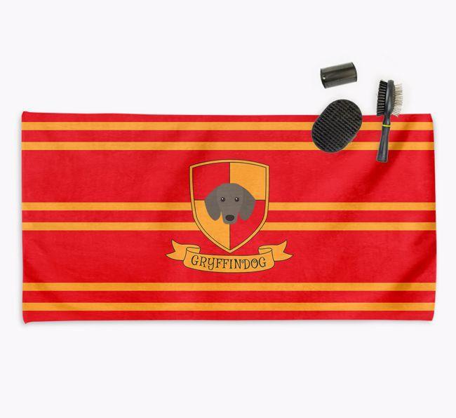 'Harry Pawter' - Personalised {breedFullName} Towel