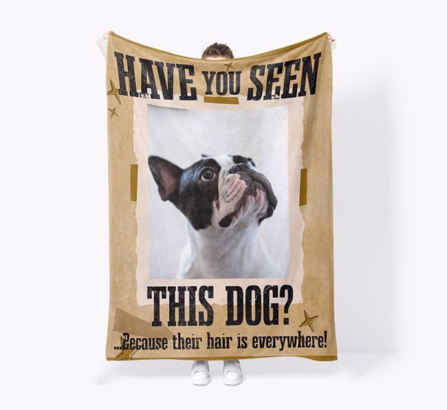 'Have you seen this Dog?' - Personalised {breedFullName} Photo Upload Snuggle Blanket