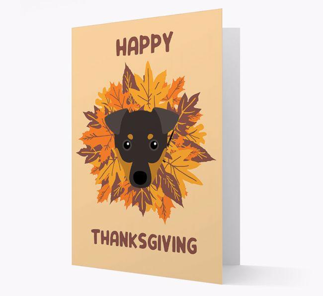 'Happy Thanksgiving' - Personalised {breedFullName} Greeting Card
