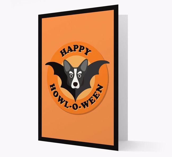 'Happy Howl-o-ween' - Personalised {breedFullName} Halloween Card