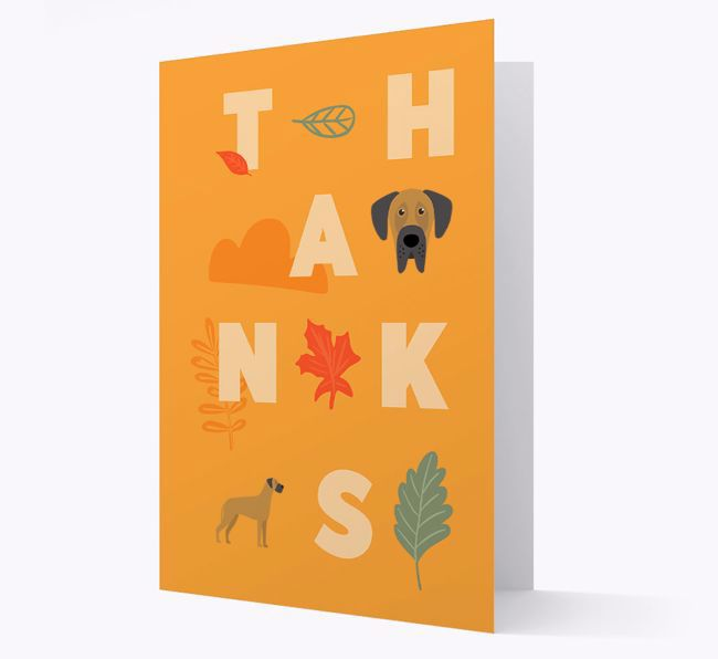 'Thanks' - Personalized {breedFullName} Greeting Card