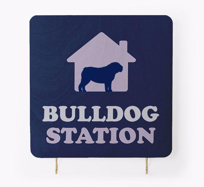 "'{breedCommonName} Station' - Personalised ""{breedFullName} Lead & Collar Hanger"