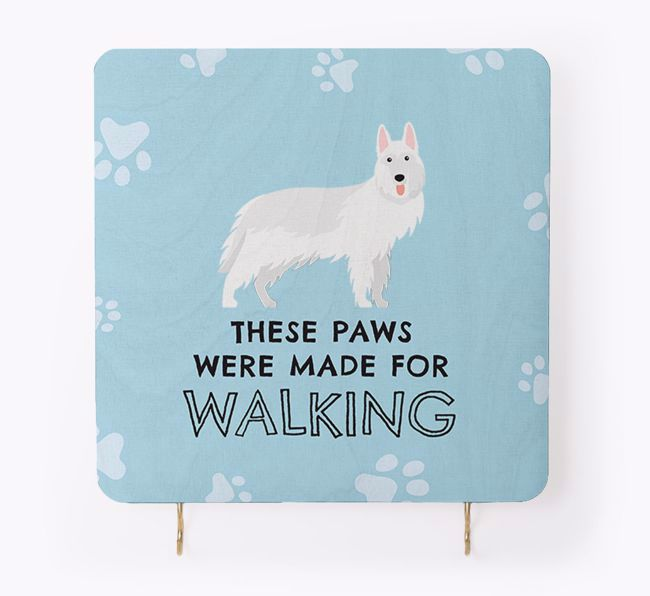 'These Paws Are Made for Walking' - Personalised {breedFullName} Lead & Collar Hanger