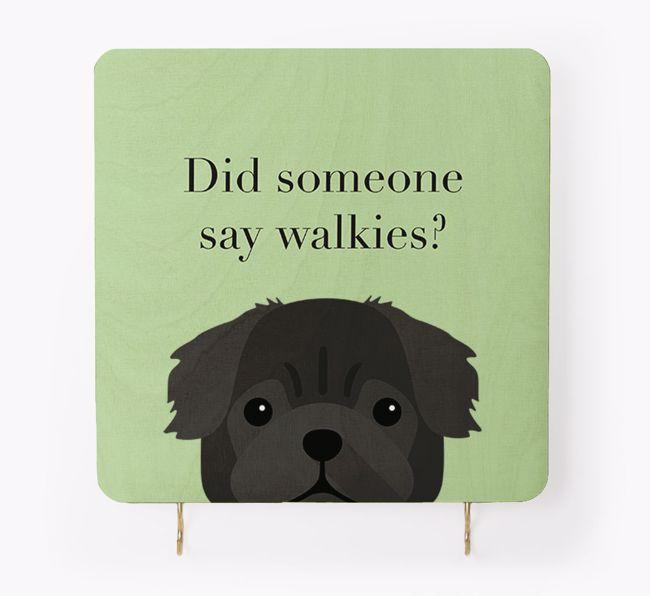 'Did Someone Say Walkies?' - Personalised {breedFullName} Lead & Collar Hanger