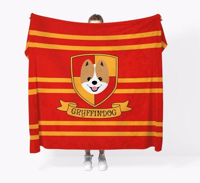 'Dogwarts' - Personalized {breedFullName} Blanket