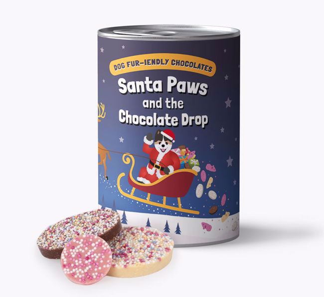 'Santa Paws' - Personalised Dog-friendly Chocolate for your {breedFullName}