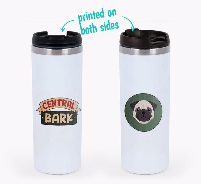 'Central Bark' - Photo Upload {breedFullName} Travel Mug