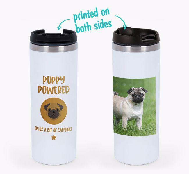 'Puppy Powered' - Photo Upload {breedFullName} Travel Mug