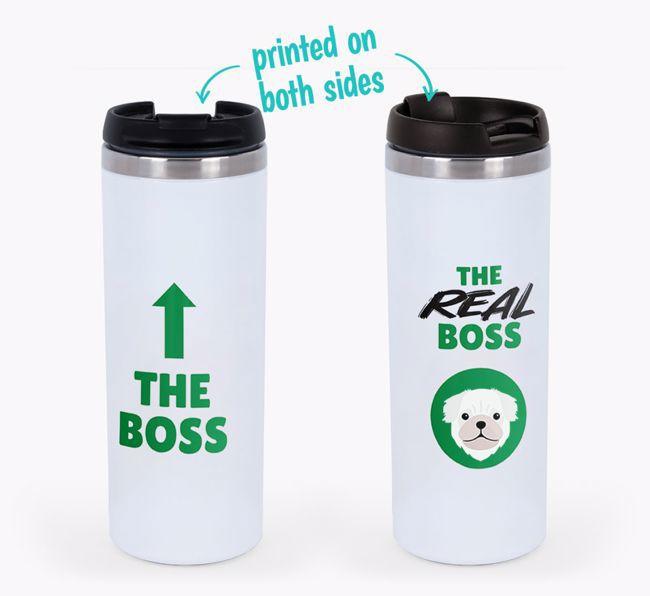 'The Boss' - Personalised {breedFullName} Travel Mug