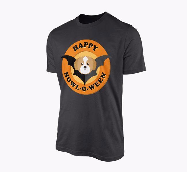 'Happy Howl-o-ween' - Personalised {breedFullName} T-Shirt