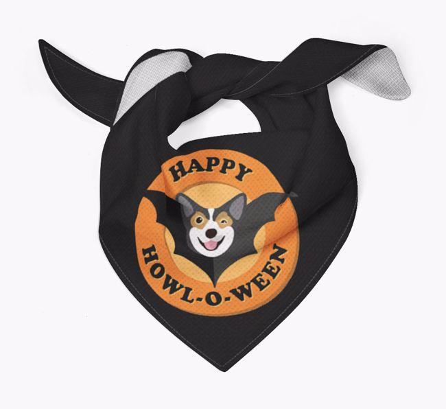 'Happy Howl-o-ween' - Personalised {breedFullName} Bandana