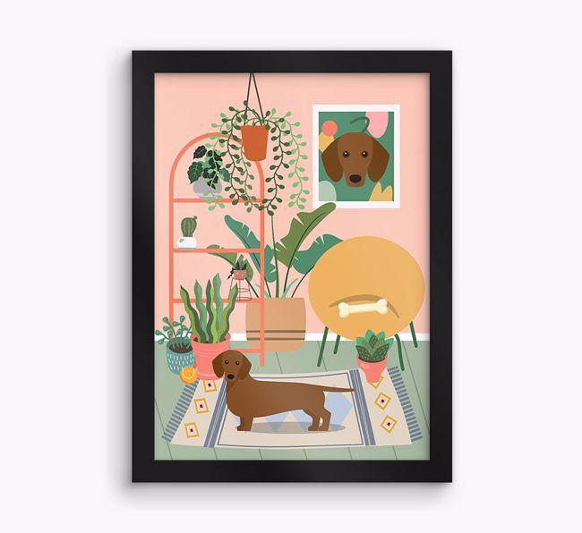 'Jungle Room' - Personalised {breedFullName} Framed Print