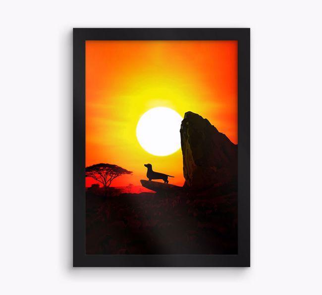 'Rock of Pride' {breedFullName} Framed Print