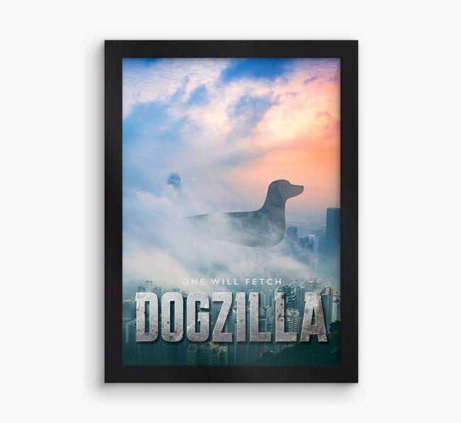 'Dogzilla' {breedFullName} Framed Print