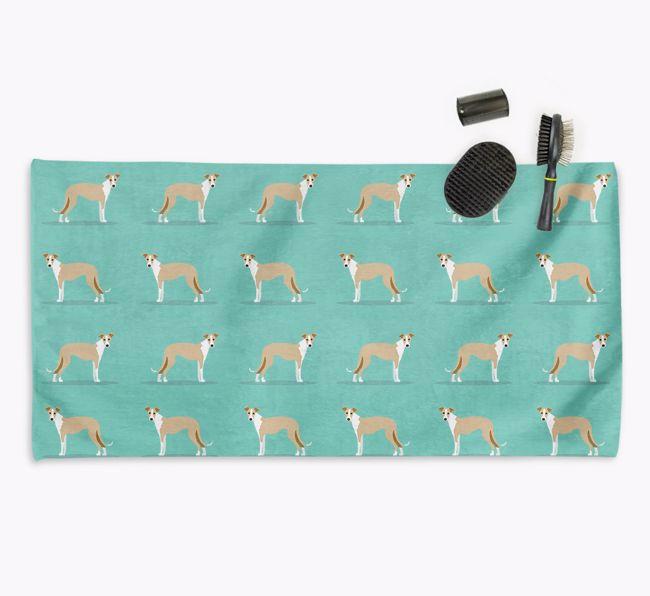 'Side Profile' - Personalised {breedFullName} Towel