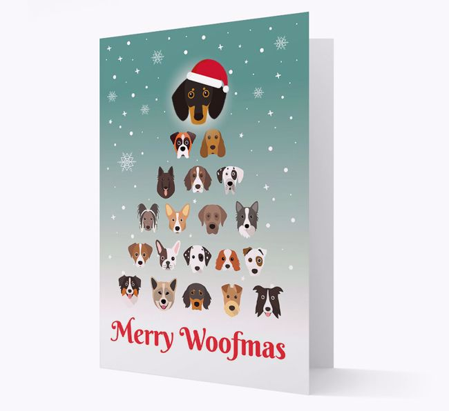 'Merry Woofmas' - Personalized {breedFullName} Christmas Card