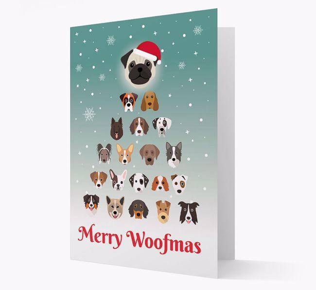 'Merry Woofmas' - Personalised {breedFullName} Christmas Card